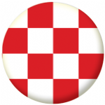 North Brabant Region Flag 58mm Button Badge